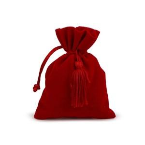 Sacchetto Bomboniera rosso laurea velluto con tirante (12 pz)-0