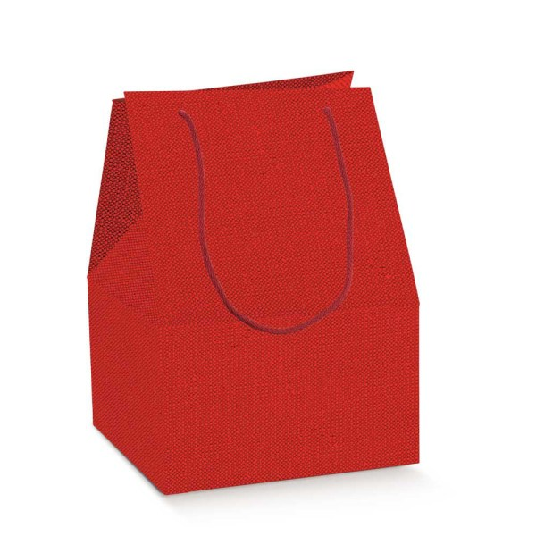 Scatola Saccotto Lino Rosso Con Manici 30,5 X 22,5 X 42 cm (10 PZ)-0
