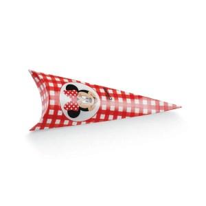 Cono Busta Portaconfetti Minnie Rossa 19 cm (10 PZ)-0