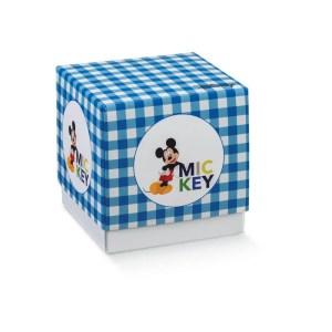 Scatola Fleur Fondo e Coperchio Grande Mickey Mouse Blu 9 X 9 X 9 cm (10 PZ)-0