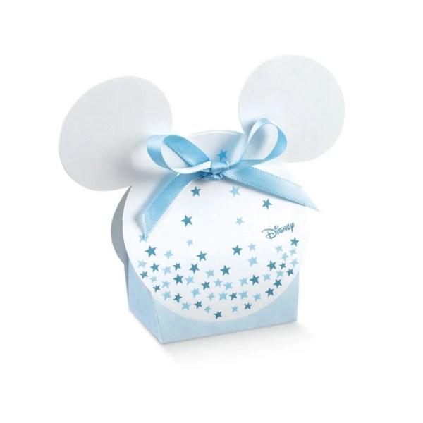 Scatola Portaconfetti Mickey Mouse Stars Celeste 5,5 X 4 X 10,5 cm (10 PZ)-0