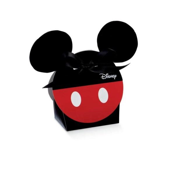 Scatola Portaconfetti Sagoma Mickey Mouse Rosso e Nero 5,5 X 4 X 10,5 cm (10 PZ)-0