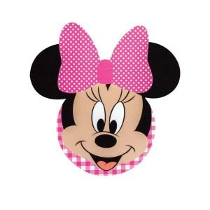 Bigliettino Minnie Party Fucsia Diam. 12 cm (20 PZ)-0