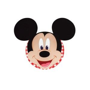 Bigliettino Mickey Party Rosso Diam. 12 cm (20 PZ)-0
