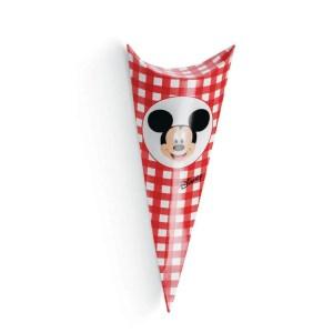 Cono Busta Portaconfetti Mickey Party Rosso 19 cm (10 PZ)-0