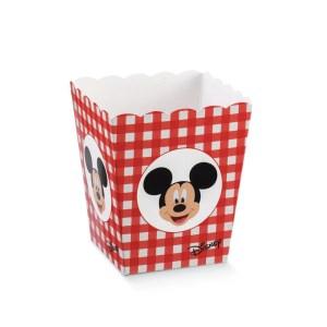 Scatola Vaso Mickey Party Rosso 7 X 7 X 11 cm (10 PZ)-0