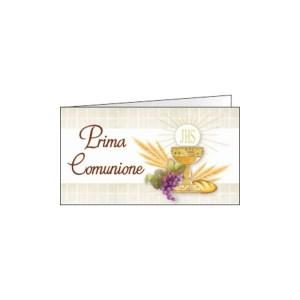 Bigliettino Bomboniera Comunione Calice Quadri (Pz. 200)-0
