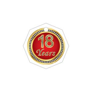 Bigliettino Bomboniera Tag 18 Years Gold (Pz. 350)-0
