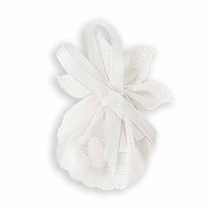 Nastro Portaconfetti foglia di colore Bianco-0
