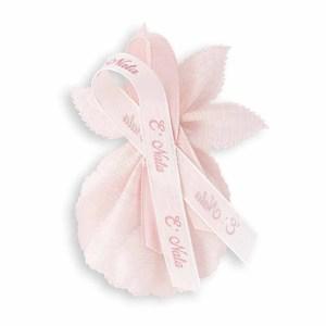 Bomboniera portaconfetti di colore Rosa perla-0