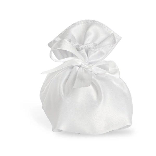 Sacchetto per confetti albarosa bianco