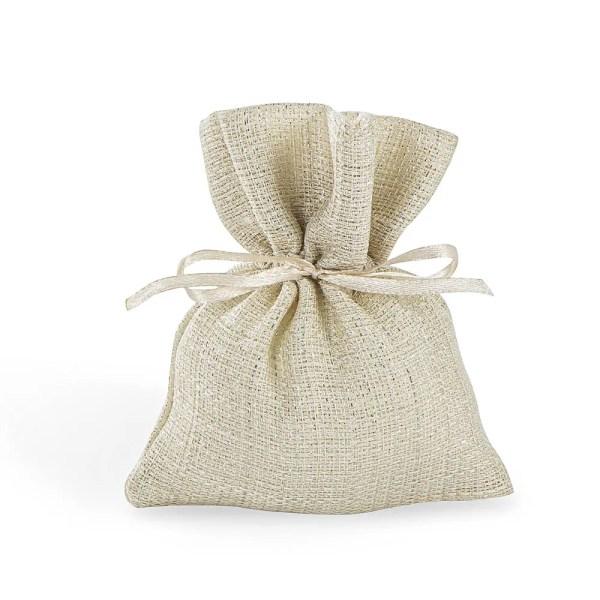 Portaconfetti in cotone beige piccolo