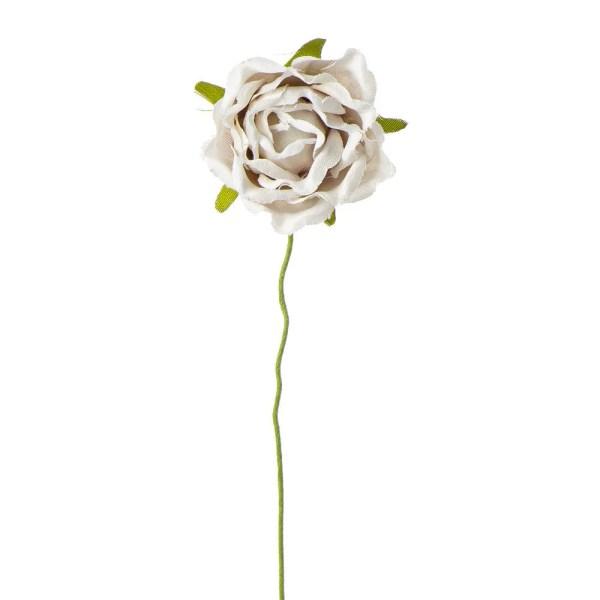 Fiore decorativo rosellina beige
