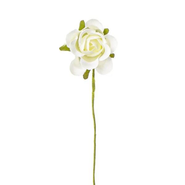 Rosellina decorativa bomboniera panna