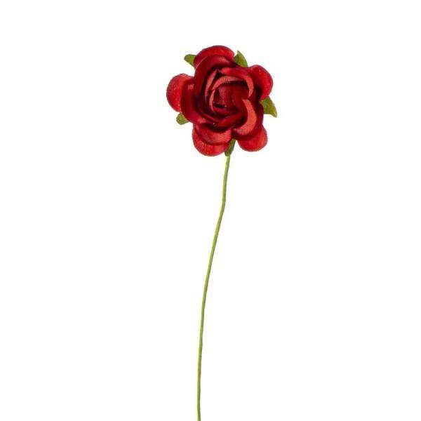 Rosellina decorativa sfumata rosso