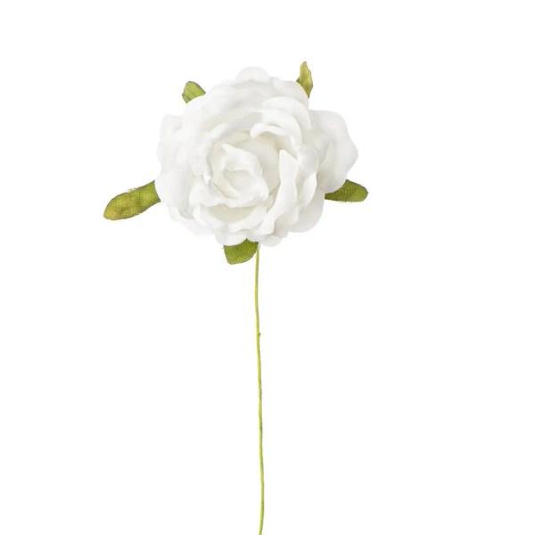 Fiore bomboniera rosellina media bianca