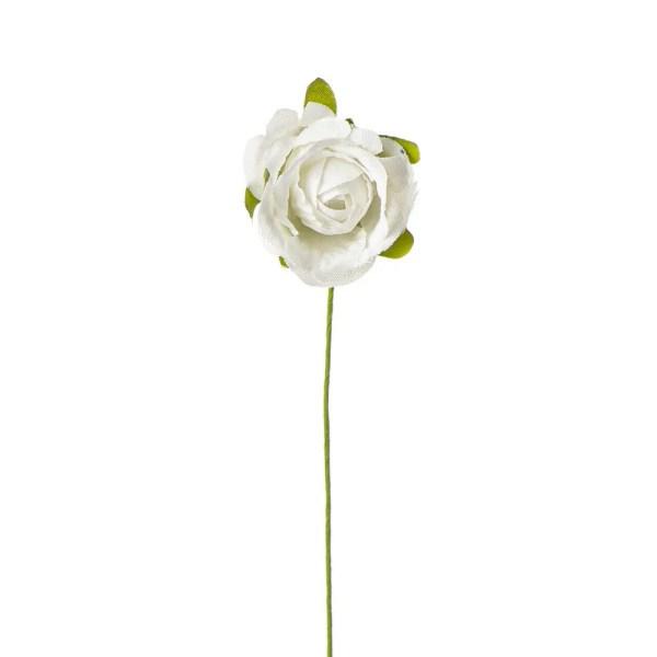 Decorazione bomboniera rosellina bianca