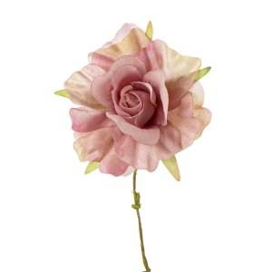 Decorazione bomboniera bocciolo rosa antico