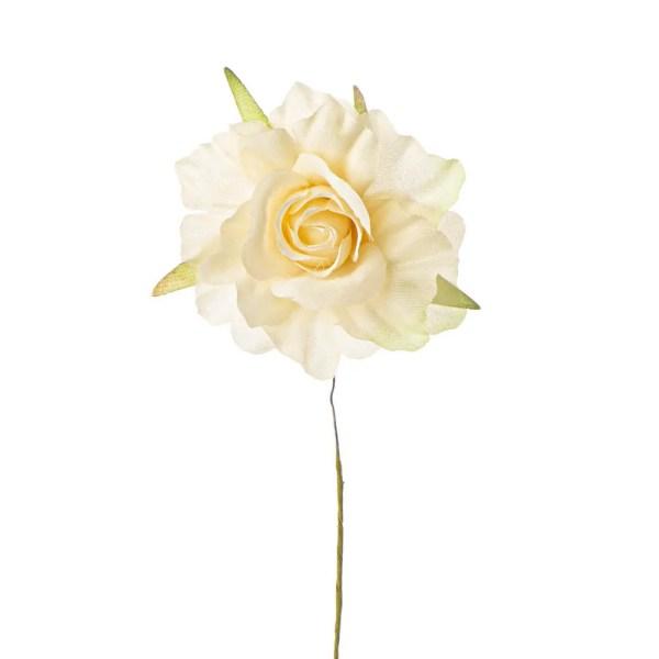 Fiore decorativo bocciolo cipria