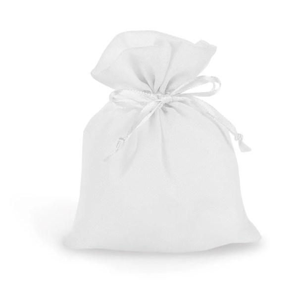 Portaconfetti in organza bianco con tirante-0