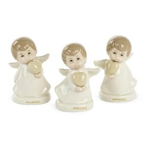 Bomboniera angelo in porcellana per comunione e cresima-0