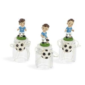 Barattolo con bimbo calciatore assortito in 3 modelli-0