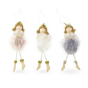 Bambola Tina in tessuto e piume assortita nei 3 colori.-0