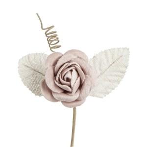 Applicazione fiore colore rosa-0
