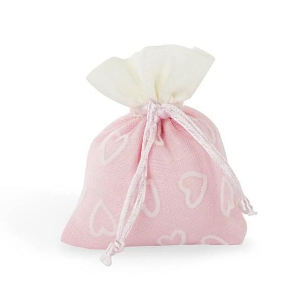 Portaconfetti bomboniera rosa con cuori-0