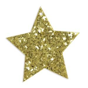 Applicazione chiudipacco stella in oro.-0