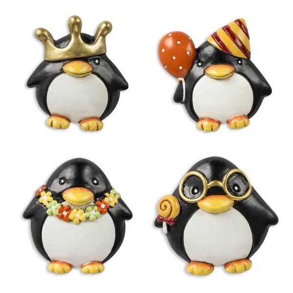 Decorazione bomboniera pinguino magnete
