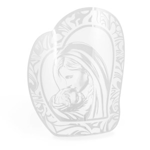 Bomboniera icona in vetro Maternità con box