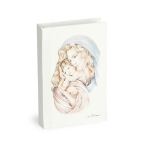 Bomboniera Vangelo con immagine Maternità e box
