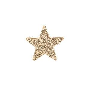 Applicazione bomboniera stella glitterata oro (120 pezzi)-0