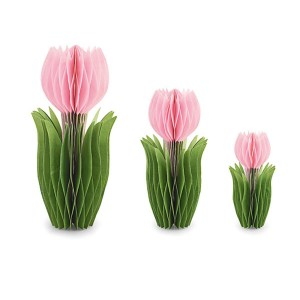 Addobbo set da 3 tulipani rosa-0