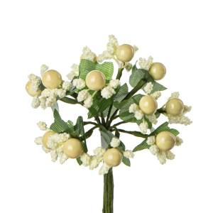 Applicazione bomboniera fiore pistillo panna