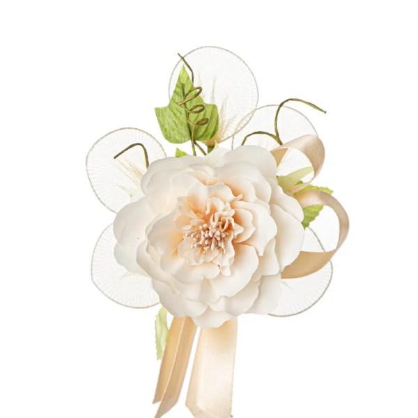 Bomboniera decoro fiore ortensia cipria