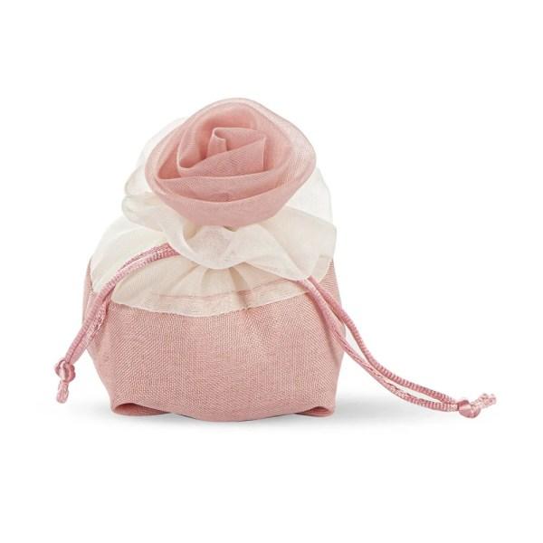 Bomboniera portaconfeti rosa colore rosa