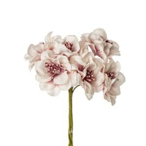 Decorazione fiore pistilli rosa antico