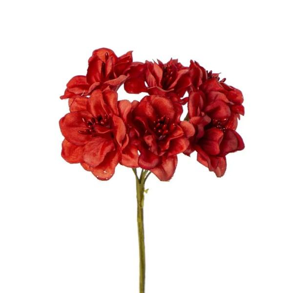 Bomboniera decori fiore con pistilli rosso
