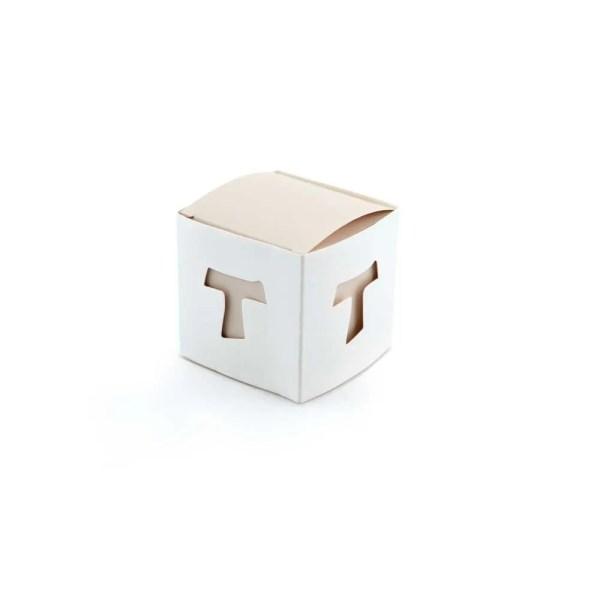 Scatola cubo portaconfetti in cartoncino comunione e cresima bimbi-0