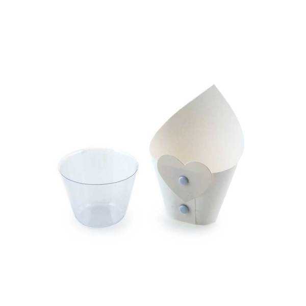 Scatola cono confettata con applicazione Cuore-0