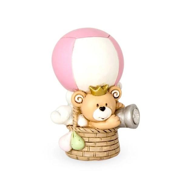 Bomboniera con led mongolfiera rosa con led|con Box-0