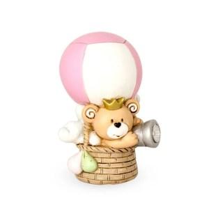 Bomboniera con led mongolfiera rosa con led con Box-0