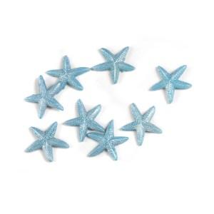 Applicazioni stelle marine celeste in resina (8 pz)