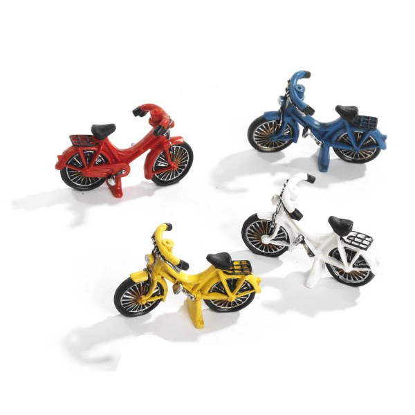 Bomboniera bicicletta in resina 4 assortite