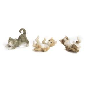 Bomboniera gattino in resina 3 assortiti