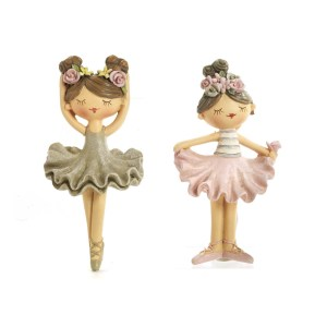 Bomboniera ballerina con magnete in resina