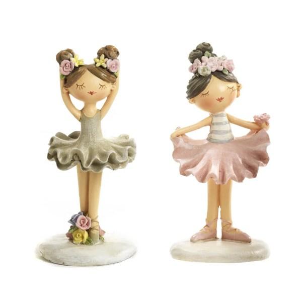 Bomboniera ballerina 2 assortite in resina