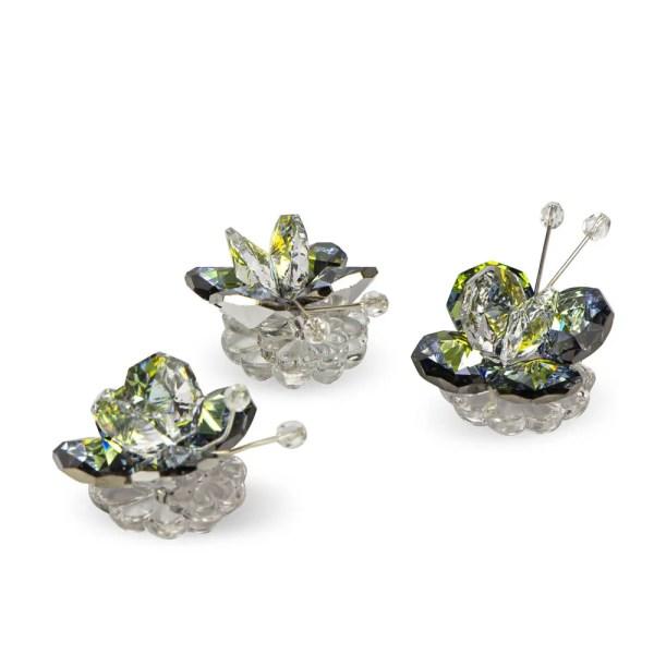 Farfalla decorativa cristallo e peacock-0